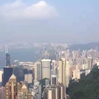 香港太平山顶-俯瞰整个维多利亚港