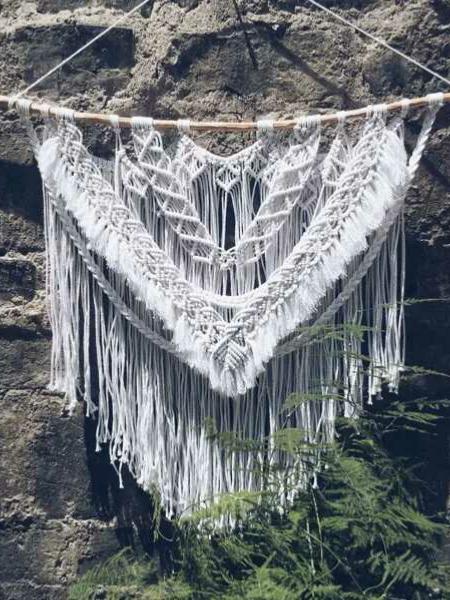 手工编绳挂毯教程,成品如图