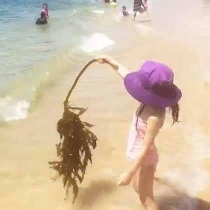 发现一根海带😝#宝宝##糖小希#