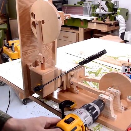 木头做的蒸汽机,这技术太厉害了!😃😃😃