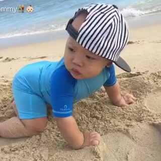 10m➕17海边#宝宝##美拍小助手##我要上热门#