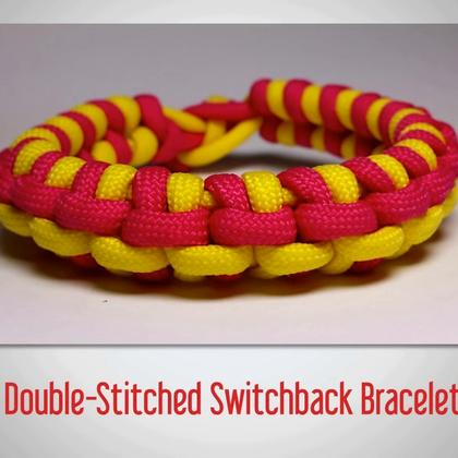 教你编漂亮的手环,之前发这种编绳教程总有人问绳子,这个绳叫伞绳,淘宝有卖哦,想买的自己去搜哦,双击❤#时尚##手工##生活DIY教程#