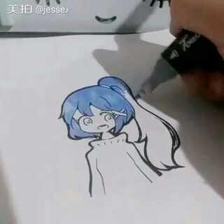#马克笔绘画#@别看了这里不是梦缘 望喜欢(´。・v・。`)【被pia飞】