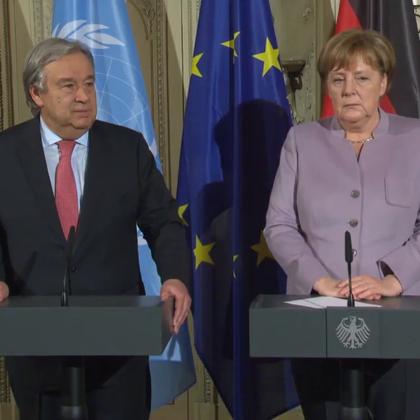 秘书长古特雷斯抵达慕尼黑访问,盛赞德国实行多边主义为世界做出表率。
