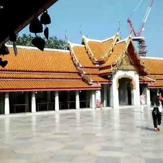 曼谷大理石寺的风铃声,印在硬币5泰铢上的寺庙#随手美拍##泰国曼谷##旅游#