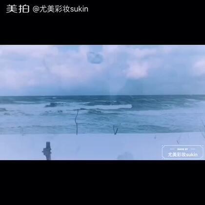 雪の降る海辺には#随手美拍##日本自由行#
