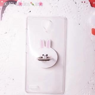 兔子手机壳…支架款#手工##我要上热门#@美拍小助手 #奶油手机壳#