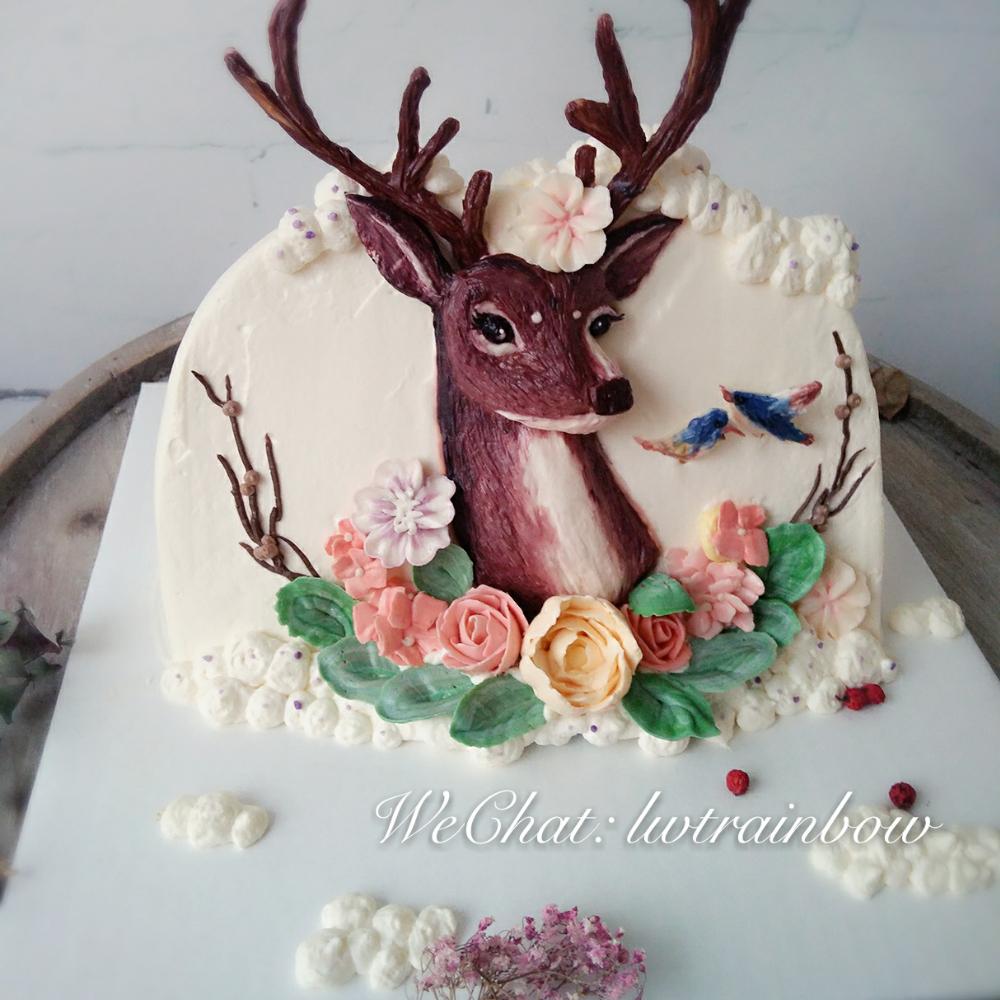 立体浮雕手绘蛋糕