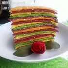 【蔬菜汁煎饼】#饼的做法大全#天然色素蔬菜汁煎饼.健康.营养.美味.比用色素吃看放心.#美食#