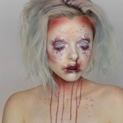 #时尚美妆##化妆##创意妆容# 鲜血 Bloody Makeup TUTORIAL by Colour Creep 超艺术感UPUPUPUP