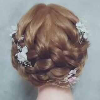 编发教程##韩式新娘发型#@美拍小助手 需要购买头模的宝宝加vx咨询哦