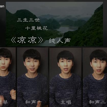 #电视剧三生三世十里桃花#【凉凉】Opus 8 这是我改编的第一首纯人声的中国风,@张碧晨_ @杨宗纬 的《凉凉》,出自电视剧《三生三世十里桃花》。所有的咚次大次都是人声完成的哟!咕噜! 音频在我的网易云哦!