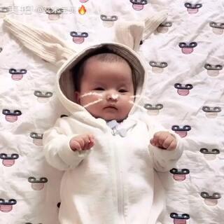 #宝宝##萌宝宝#我是一只小兔子小呀小兔子