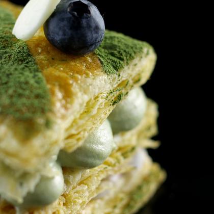 抹茶拿破仑酥,层层香脆回味无穷!#美食##魔力美食##灵魂美食#