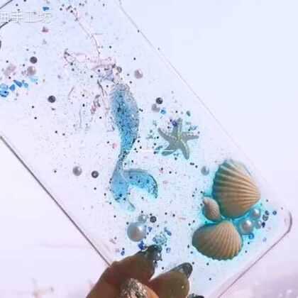 #手工##滴胶手机壳##我要上热门@美拍小助手#经典款美人鱼来啦。