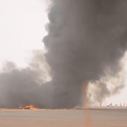南苏丹客机坠毁失火,联合国维和人员紧急救援