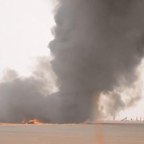 【联合国美拍】南苏丹客机坠毁失火,联合国维和...