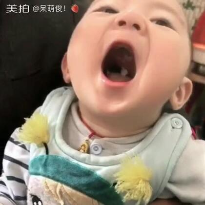 谁说我们嘴巴小 🙈#宝宝#