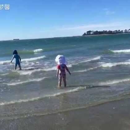 #大海#篇~麻麻自己一人带宝贝们吃喝玩乐的一天😊#宝宝##在路上##随手美拍#
