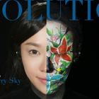 两分钟在脸上画出人类的进化史!这个创意妆你们打几分?#美妆时尚##我要上热门##扇子美妆#@美拍小助手