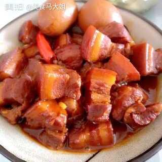 #美食##家常菜##我要上热门#红烧肉,凉拌黄瓜,蒸的芋头
