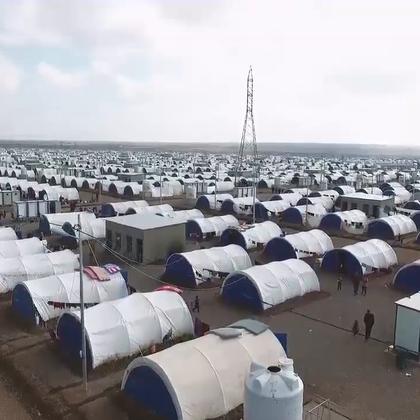 摩苏尔冲突导致流离失所加剧,联合国难民署加建新营地。