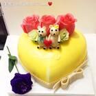#美食##甜品##美食作业#两只小熊❤❤❤❤❤,帮亲戚做的一个蛋糕,送给她老公的,小伙伴们觉得还合适吗🙈🙈🙈