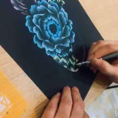 排笔彩绘教学 我才是龙海的美拍
