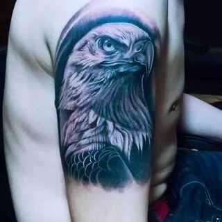 写实老鹰 蓬莱专业纹身 永绣堂刺青 #纹身刺青##蓬莱##我在山东蓬莱