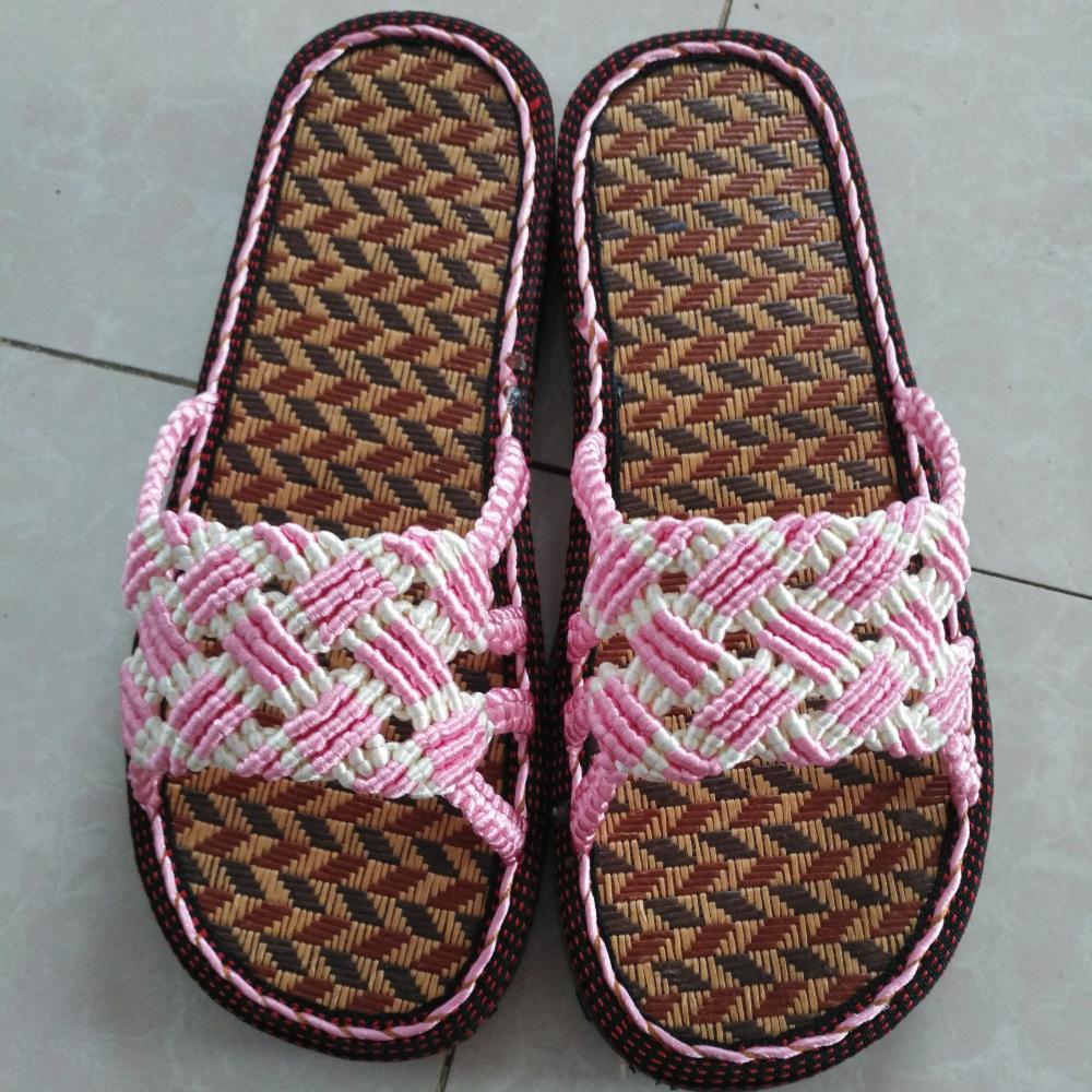 手工编织拖鞋的美拍
