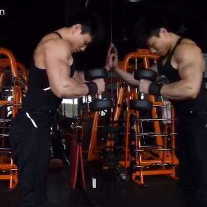 我的手臂日常训练。我喜欢三头、二头一起练,动作就是这些动作,每个动作都是2-3个重量做递增或递减组,三个重量做完为一组,至少4组。把专注力放在肌肉控制上面,目标肌肉越难受越好!Ps:练得好的人不是方法多好、有多牛逼,而是比别人更用心更努力,吃了更多的苦!