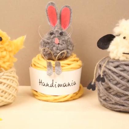 教你做3种可爱小动物,都很Q~#时尚##手工##生活DIY教程#