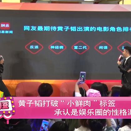 """黄子韬打破""""小鲜肉""""标签 承认是娱乐圈的性格泥石流"""