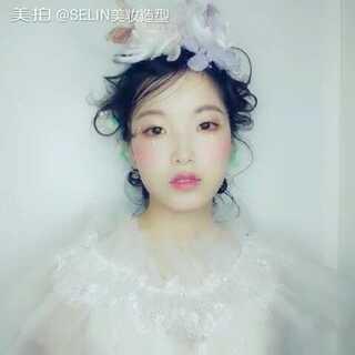 清新唯美新娘造型,不食人间烟火的韵味☺☺#美妆时尚##唯美新娘造型##新娘发型教程##热门#
