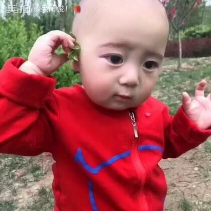 🤗🤗没有进耳朵啦‼️拍完就拿走不给玩了‼️可爱美了还要戴花花#宝宝#