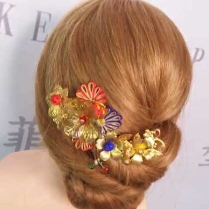 #中式新娘发型##我要上热门@美拍小助手##进入美妆时尚频道#