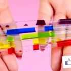 现场DIY液体彩虹电话,你从未见过的手机壳!#手工##涨姿势#