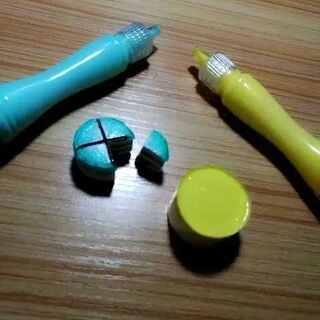 #蓝色系##黄色系#切蛋糕嘿嘿,黄色的等它干了在给大家切哈❤