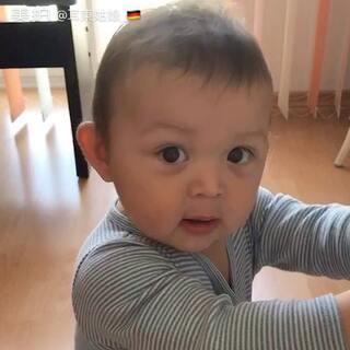 来自火星的对话#宝宝##我家宝贝萌萌哒##混血宝宝#