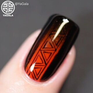 🖤❤️Red and black #naildesign# by #yagala#