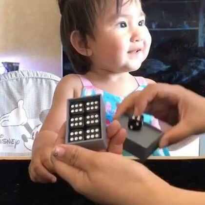 小魔术~变骰子🎲点数。亮眼睛👀#宝宝##魔术#