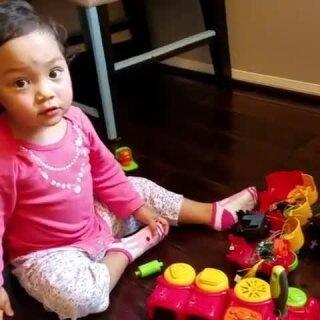 工程师的女儿的童年😂😂😂#萌宝宝##宝宝成长日记#