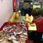 欢乐#砸金蛋#一次让你看个爽!温州茶山#八点舞舞蹈工作室#!