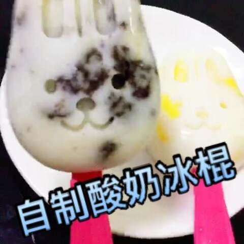 自制酸奶冰棍…是奥利奥味和菠...