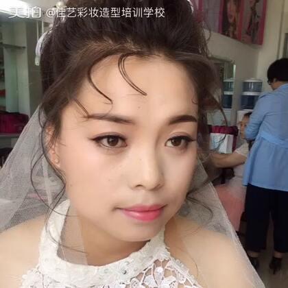 艺彩妆造型设计培训学校:今日新娘化妆班上课妆容分享一婚庆新娘-图片