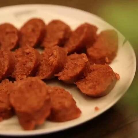 自制火腿肠#美食#微信公众号:...