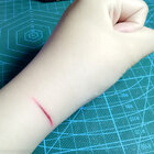 我画的刀痕像不像😂#仿真刀痕#