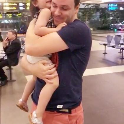 到家啦!#annie和爸爸##宝宝#