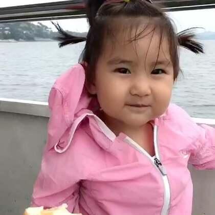 果果游千岛湖。亮眼睛#宝宝#