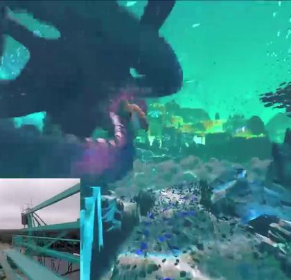奥兰多海洋世界海怪VR过山车,看着都刺激!#涨姿势#